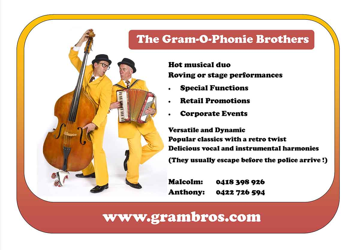 Gram-O-Phonie Brothers Roving Duo
